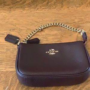 Coach Burgundy Wristlet new without tags
